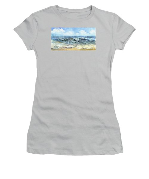 Crashing Waves In Florida  Women's T-Shirt (Athletic Fit)