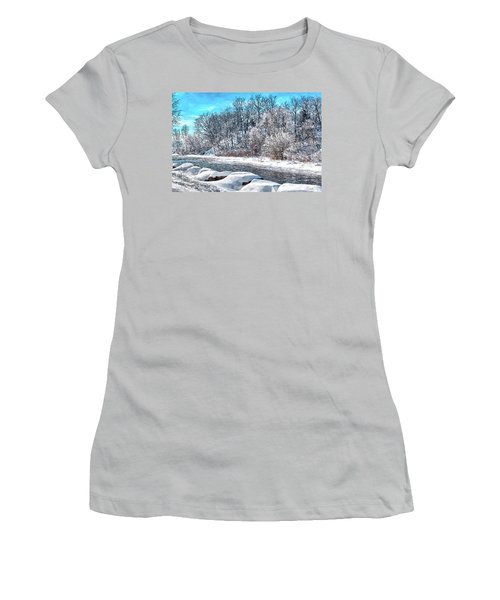 Credit River At Winter Women's T-Shirt (Athletic Fit)