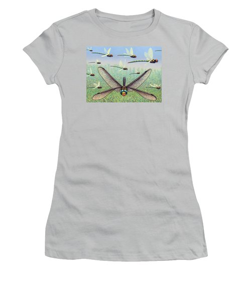 Women's T-Shirt (Junior Cut) featuring the painting Crossways by James W Johnson
