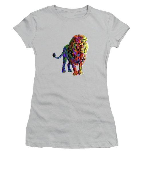 Geometrical Lion King Women's T-Shirt (Junior Cut) by Anthony Mwangi