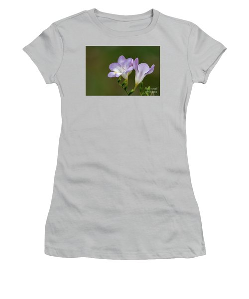 Cupertino Lavender Freesias Women's T-Shirt (Athletic Fit)