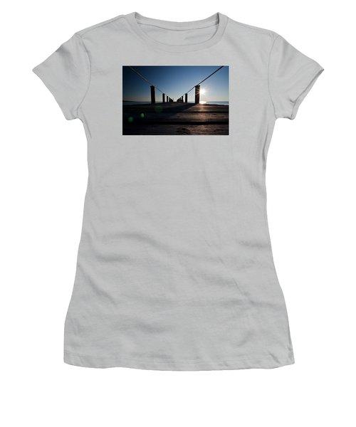 Currituck Sunset Women's T-Shirt (Junior Cut) by David Sutton
