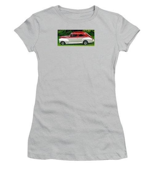 Customized Forty One Chevy Hot Rod Women's T-Shirt (Junior Cut) by Marsha Heiken