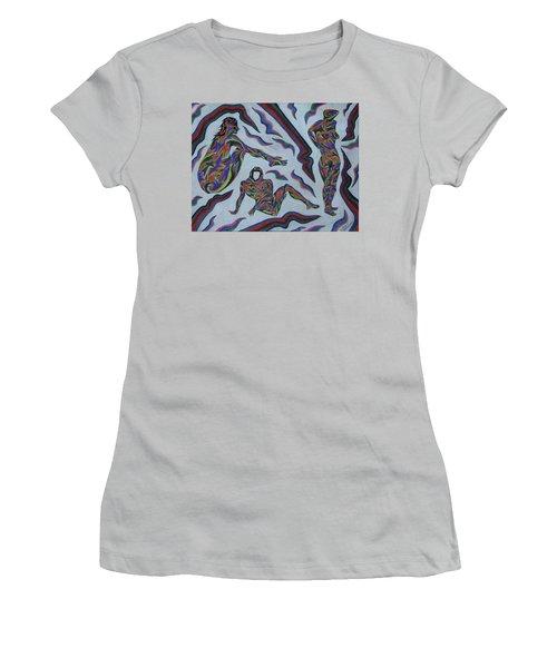 Cyber Gestes  Women's T-Shirt (Junior Cut) by Robert SORENSEN