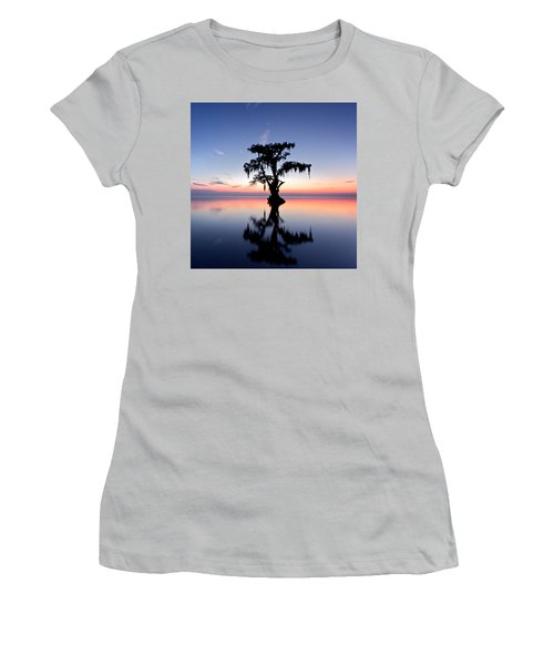 Women's T-Shirt (Junior Cut) featuring the photograph Cypress Tree by Evgeny Vasenev
