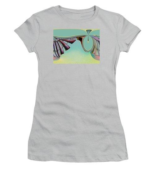 Da Vinci's Nudge Women's T-Shirt (Junior Cut) by Wendy J St Christopher