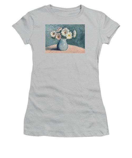Daisies Women's T-Shirt (Junior Cut) by Janet King