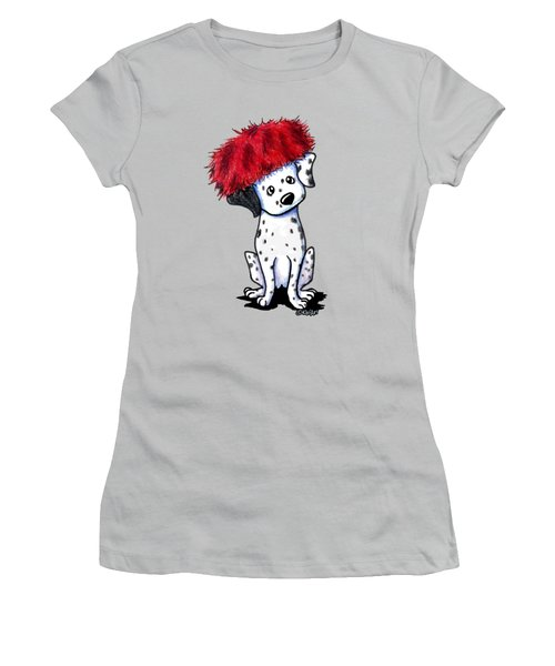 Dalmatian In Red Women's T-Shirt (Athletic Fit)