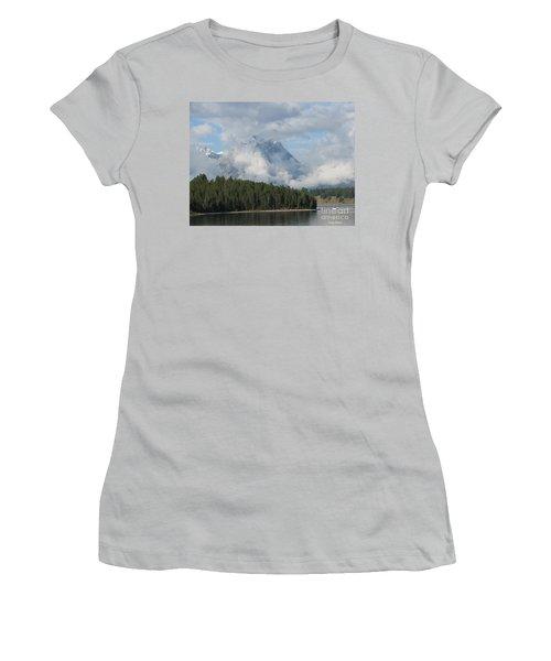 Women's T-Shirt (Junior Cut) featuring the photograph Dam Clouds by Greg Patzer