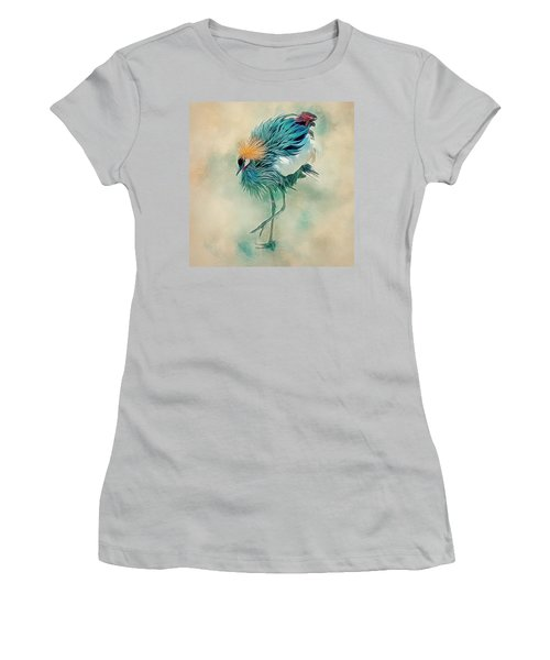 Dancing Crane Women's T-Shirt (Athletic Fit)
