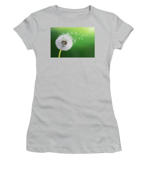 Women's T-Shirt (Junior Cut) featuring the photograph Dandelion Seed by Bess Hamiti