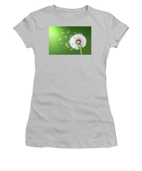 Women's T-Shirt (Junior Cut) featuring the photograph Dandelion Seeds by Bess Hamiti
