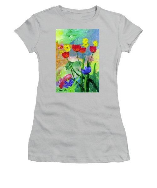 Daria's Flowers Women's T-Shirt (Junior Cut) by Jamie Frier
