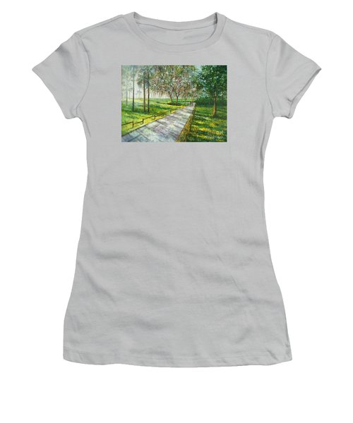 Dayspring Retreat Women's T-Shirt (Junior Cut) by Lou Ann Bagnall