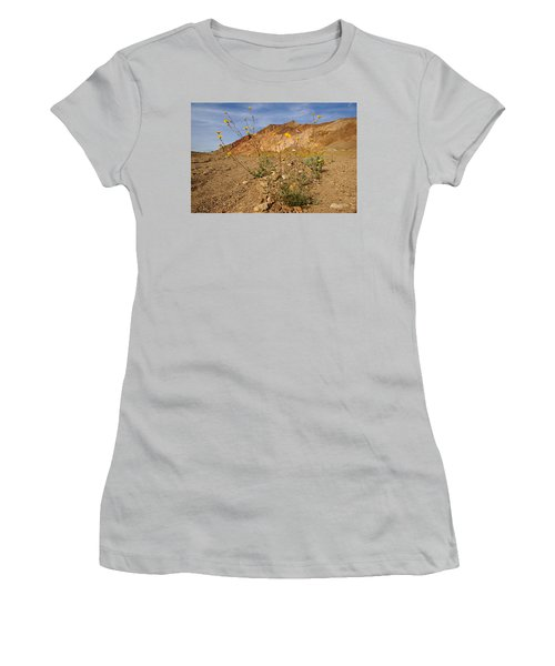 Women's T-Shirt (Junior Cut) featuring the photograph Death Valley Superbloom 202 by Daniel Woodrum