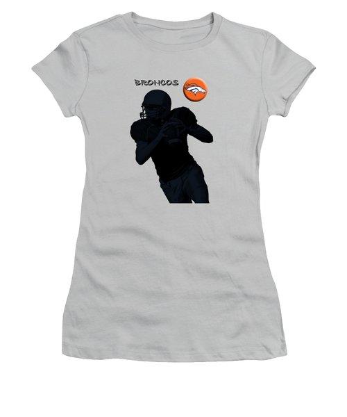 Denver Broncos Football Women's T-Shirt (Athletic Fit)