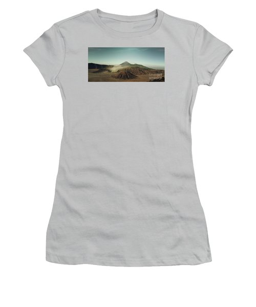 Women's T-Shirt (Junior Cut) featuring the photograph Desert Mountain  by MGL Meiklejohn Graphics Licensing