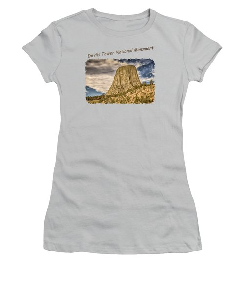 Devils Tower Inspiration 2 Women's T-Shirt (Junior Cut) by John M Bailey