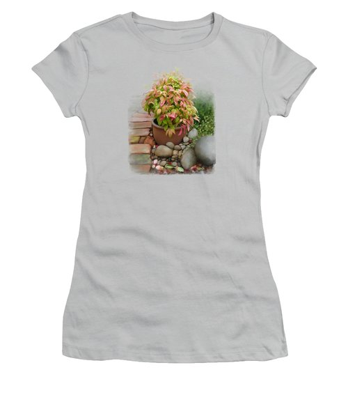 Dew On Leaves Women's T-Shirt (Junior Cut) by Ivana Westin