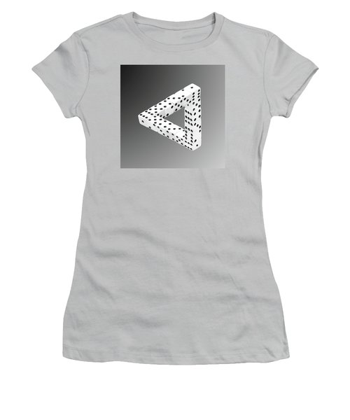 Dice Illusion Women's T-Shirt (Athletic Fit)