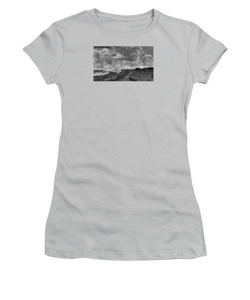 Distant Mountains The Badlands Women's T-Shirt (Athletic Fit)