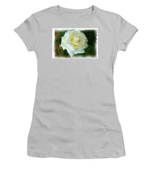 Women's T-Shirt (Junior Cut) featuring the photograph Do-00300 La Rose De Aaraya by Digital Oil