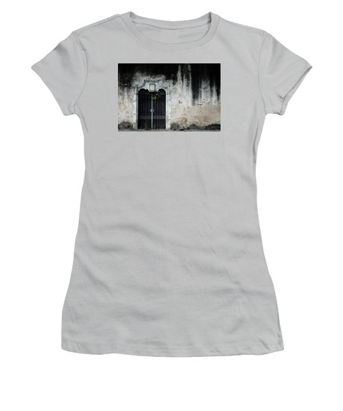 Women's T-Shirt (Junior Cut) featuring the photograph Do Not Enter by Marco Oliveira