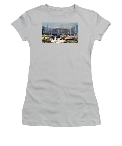 Docked For The Day Women's T-Shirt (Junior Cut) by Rod Jellison