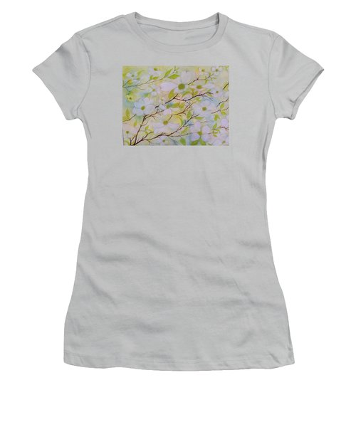 Dogwood Blossoms Women's T-Shirt (Athletic Fit)
