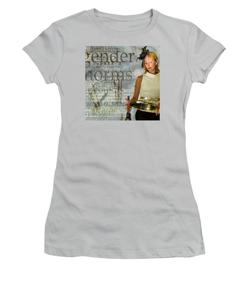 Domestic Considerations  Gender Norms Women's T-Shirt (Junior Cut) by Ann Tracy