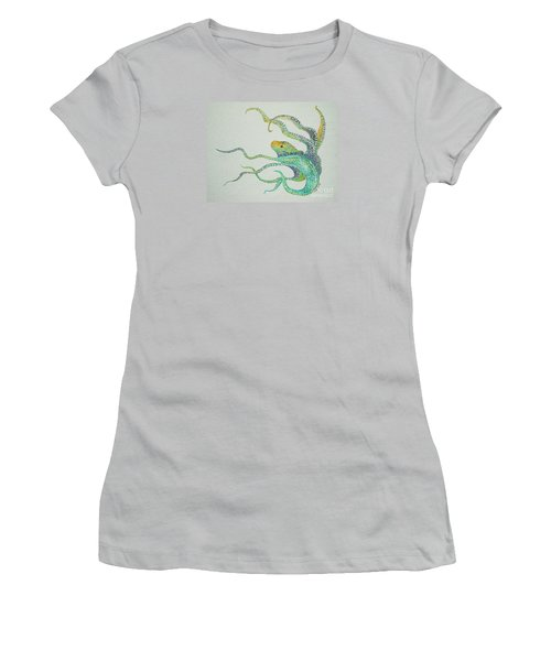 Dot Octopus Women's T-Shirt (Athletic Fit)