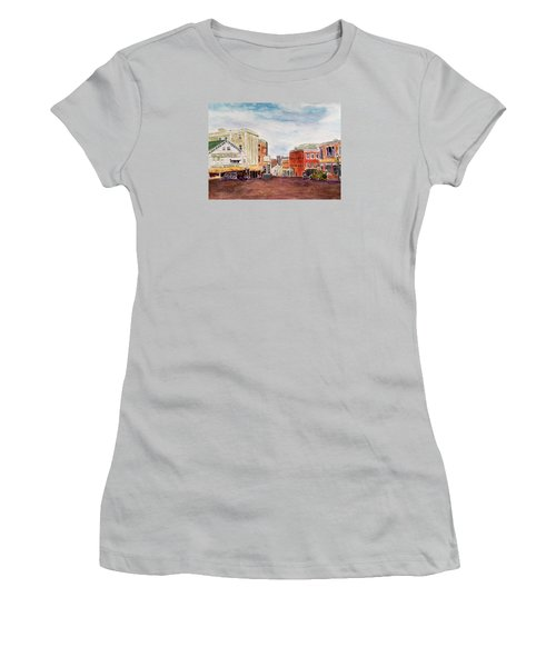 Downtown Amesbury Ma Circa 1920 Women's T-Shirt (Athletic Fit)