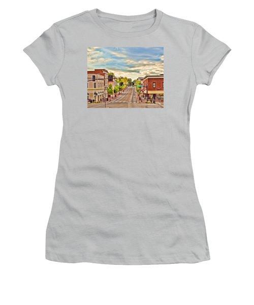 Downtown Blacksburg Women's T-Shirt (Junior Cut) by Kerri Farley