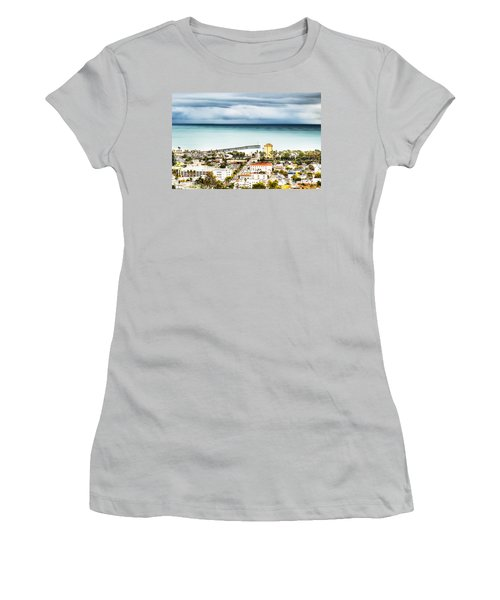 Downtown Ventura And Pier Women's T-Shirt (Athletic Fit)