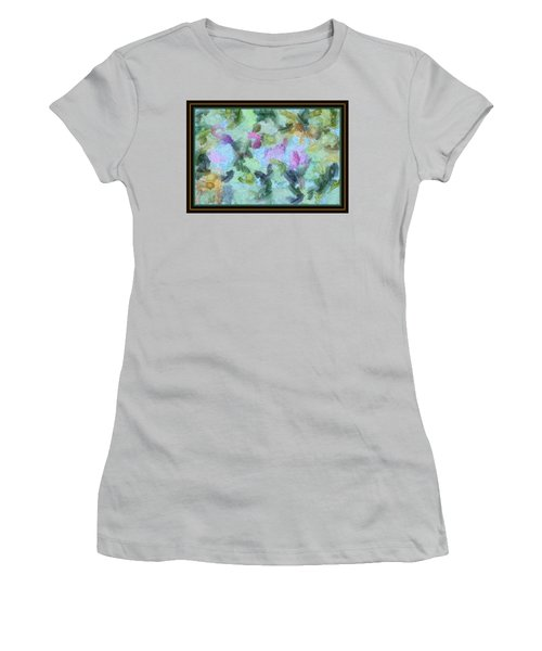 Women's T-Shirt (Junior Cut) featuring the mixed media Dream Bigger by Trish Tritz