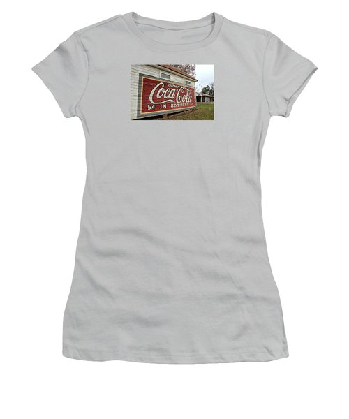 Drink Coca-cola Women's T-Shirt (Junior Cut) by Lynn Jordan