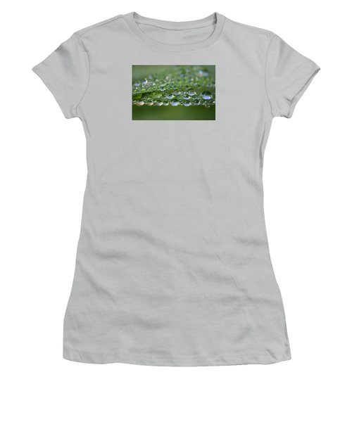 Women's T-Shirt (Junior Cut) featuring the photograph Droplets by Adria Trail