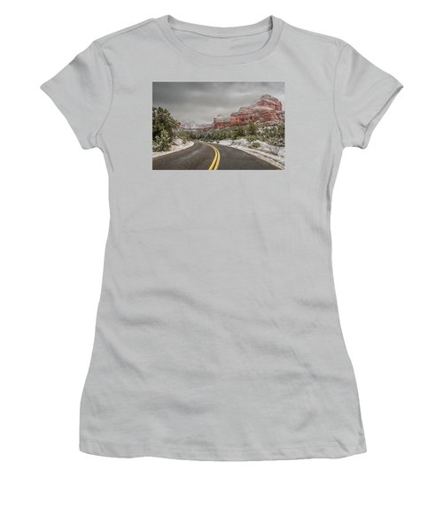 Boynton Canyon Road Women's T-Shirt (Junior Cut) by Racheal Christian