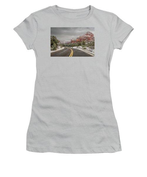 Boynton Canyon Road Women's T-Shirt (Athletic Fit)