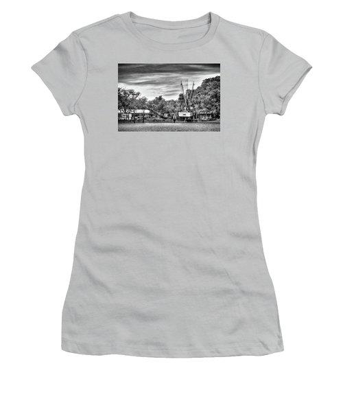 Dry Dock - St. Helena Shrimp Boat Women's T-Shirt (Junior Cut) by Scott Hansen