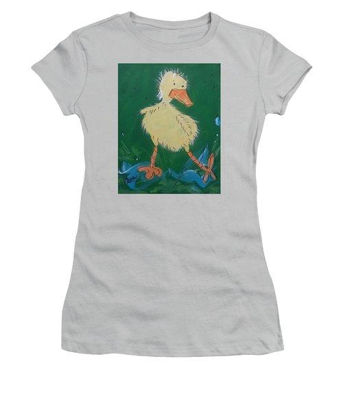 Duckling 3 Women's T-Shirt (Junior Cut) by Terri Einer