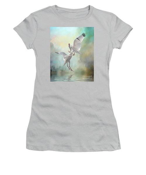 Duelling White Ibises Women's T-Shirt (Athletic Fit)