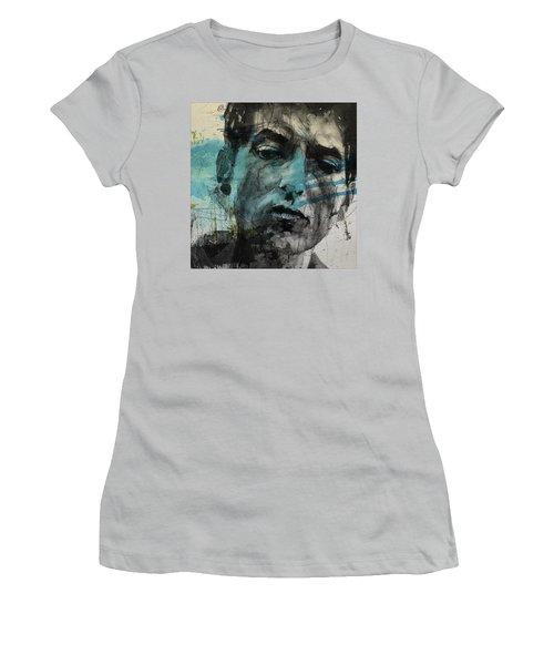 Dylan - Retro  Maggies Farm No More Women's T-Shirt (Junior Cut) by Paul Lovering