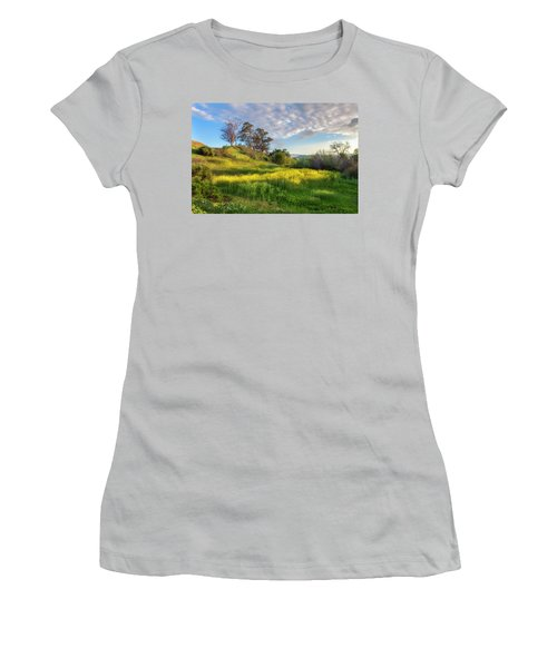 Women's T-Shirt (Junior Cut) featuring the photograph Eagle Grove At Lake Casitas In Ventura County, California by John A Rodriguez