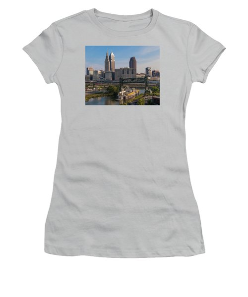 Early Morning Transport On The Cuyahoga River Women's T-Shirt (Athletic Fit)