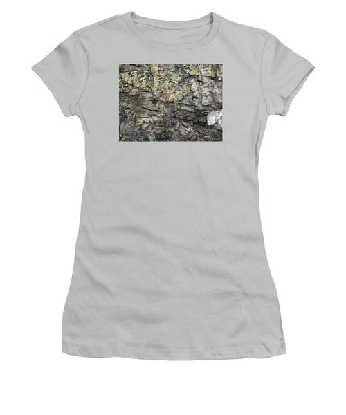 Women's T-Shirt (Junior Cut) featuring the photograph Earth Memories - Stone # 6 by Ed Hall