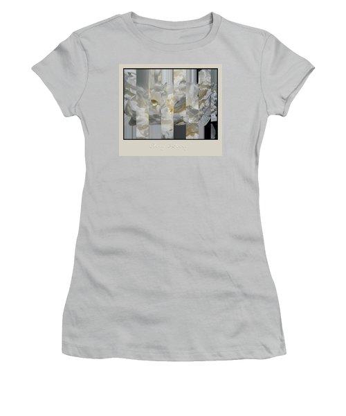 Ebony And Ivory Peony Women's T-Shirt (Junior Cut) by Brooks Garten Hauschild