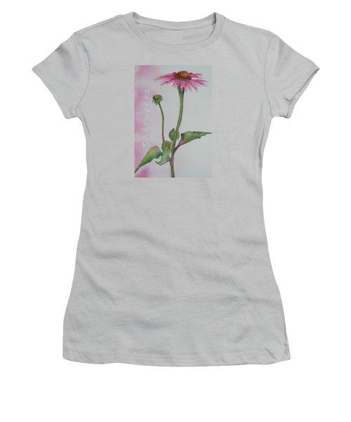 Echinacea Women's T-Shirt (Junior Cut) by Ruth Kamenev