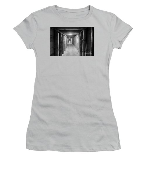 Women's T-Shirt (Junior Cut) featuring the photograph Empty Corridor by Juli Scalzi