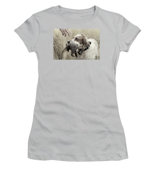 English Setter And Hungarian Partridge - D003092a Women's T-Shirt (Athletic Fit)